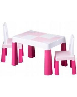 Комплект Tega Multifun столик і два стільчика Pink MF-002-123 1+2