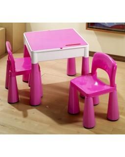 Комплект Tega Mamut столик і два стільчика MT-001 PINK 5902963070708