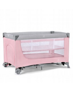 Ліжечко-манеж Kinderkraft Leody Pink KCLEOD00PNK0000 5902533917983