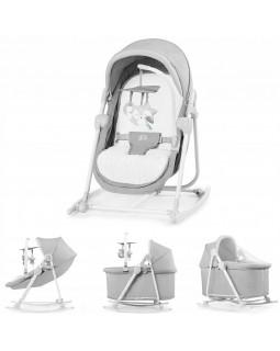 Шезлонг-качалка 5 в 1 Kinderkraft Unimo 2020 Stone Grey KKBUNIOGRY000N 5902533913848