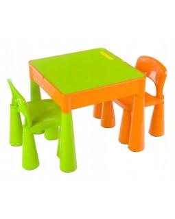 Комплект Tega Mamut столик і два стільчика MT-001 ORANGE-GREEN 5902963070661