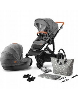 Універсальна коляска 2 в 1 Kinderkraft Prime Gray + Mommybag KKWPRIMGRMB200 5902533912919