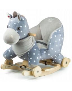 Конячка-гойдалка з коліщатками Kinderkraft Gray KKZKONIGRY0000 5902533908134