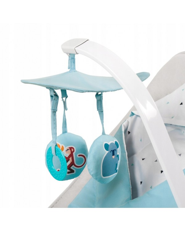 Шезлонг-качалка Kinderkraft Felio Light Blue KKBFELILIBL000 5902533908967