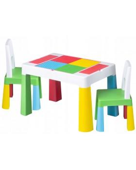 Комплект Tega Multifun столик і два стільчика Multicolor