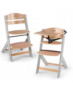 Стільчик для годування Kinderkraft Enock Gray Wood KKKENOCGRY0000 5902533915095