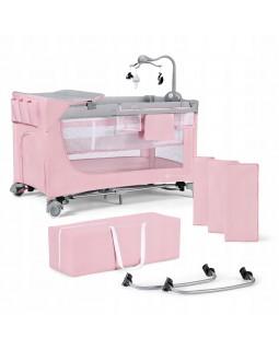 Ліжечко-манеж Kinderkraft Leody Pink з аксесуарами KCLEOD00PNK00AC 5902533917945
