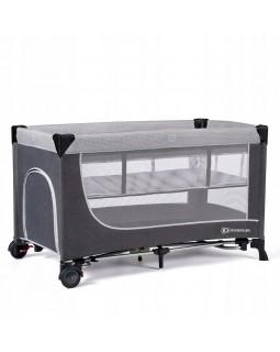 Ліжечко-манеж Kinderkraft Leody Grey KCLEOD00GRY0000 5902533917990