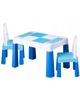 Комплект Tega Multifun столик і два стільчика Blue MF-002-120 1+2
