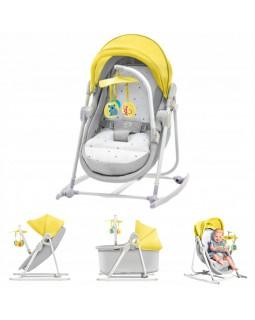 Шезлонг-качалка 5 в 1 Kinderkraft Unimo Yellow KKKUNIMYEL0000 5902533902200