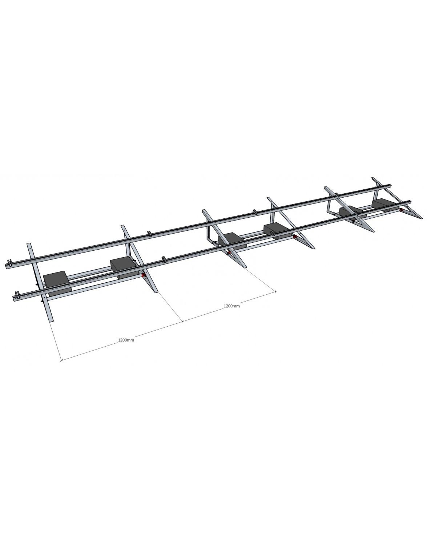 Баластова система кріплень для монтажу 12 шт. сонячних панелей на плоский дах