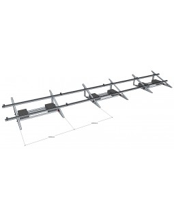Баластова система кріплень для монтажу 40 шт. сонячних панелей на плоский дах