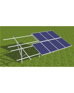 Комплект кріплень для монтажу сонячних батарей на ґрунт 30кВт