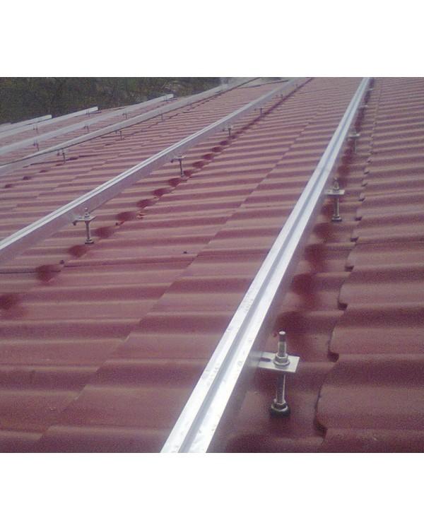 Комплект кріплень для монтажу 12 шт. сонячних батарей на дах з бляхи